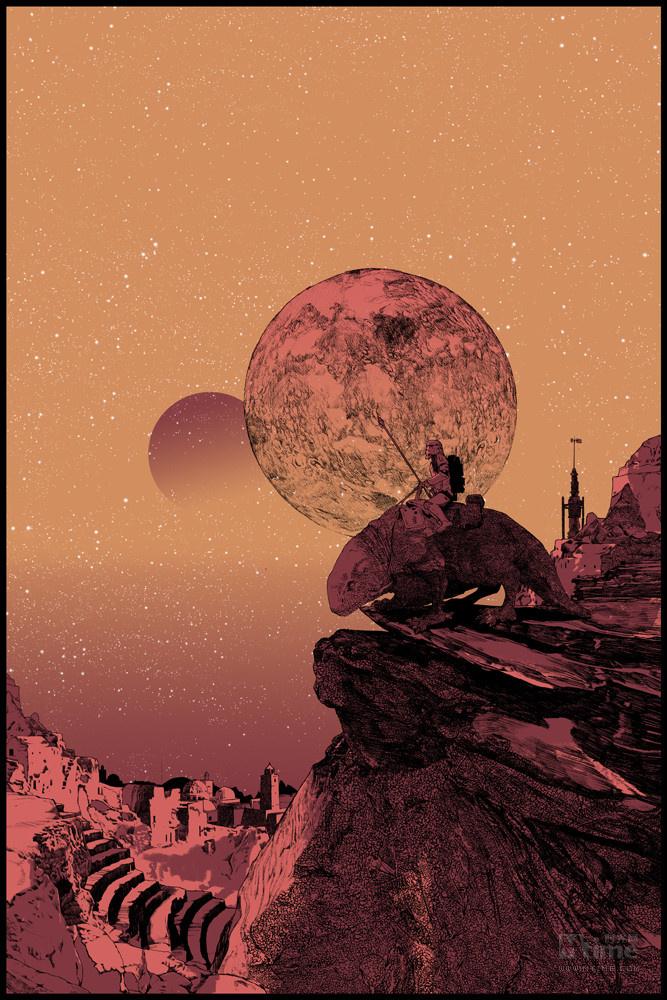 ansin等等海报设计界的名人,将经典电影重新设计制作成手绘限量版海报