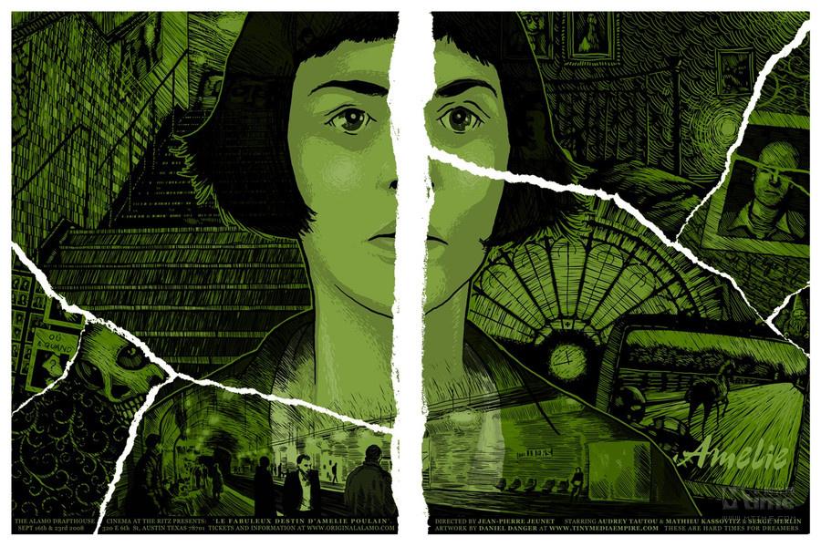 手绘海报有的简洁复古,有的繁复怪诞,因片而异,却都能精准的抓住电影