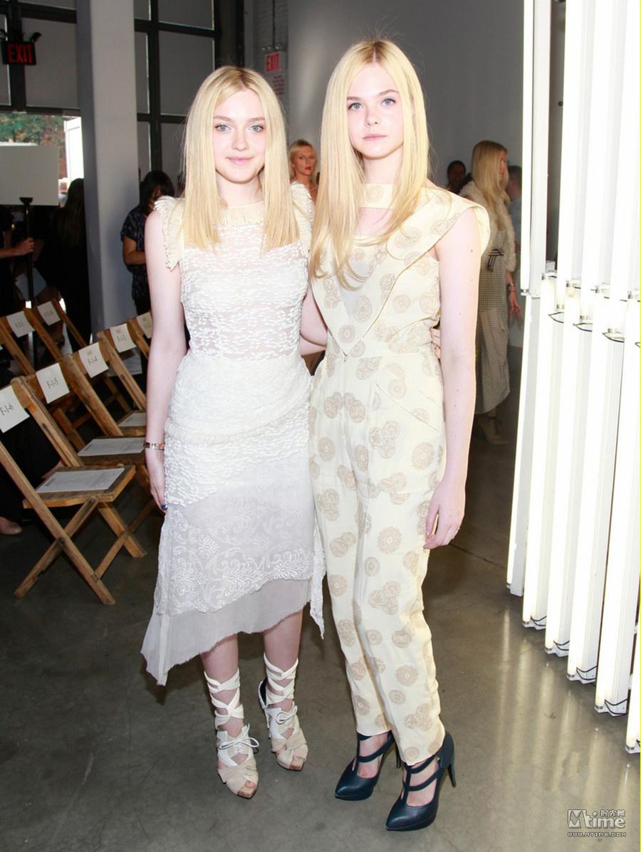 时尚姐妹电影_范宁姐妹现身时尚秀场 与泰勒斯维芙特同台媲美 - Mtime时光网
