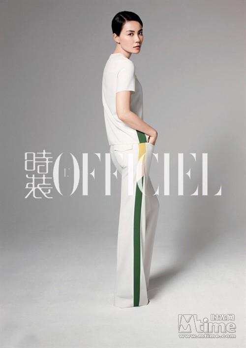 王菲登时尚杂志封面 演绎都市女性知性魅力