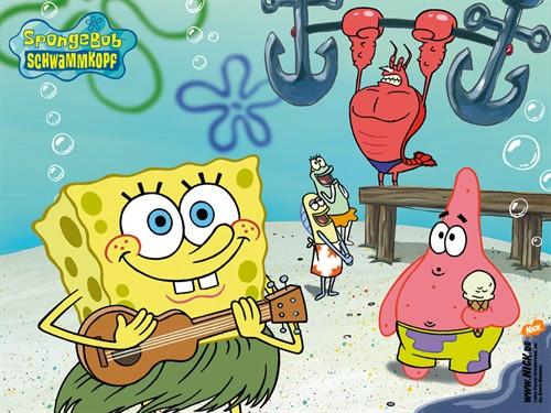 10.《海绵宝宝》(Spongebob Squarepants) 出品时间:1999 《海绵宝宝》自1999年首播后,成为了美国乃至全世界儿童最喜欢的动画之一,主角黄色的海绵宝宝则是美国家喻户晓的卡通明星。海绵宝宝是方块形的黄色海绵,住在比基堡海滩深海的一个凤梨里,他的宠物是一只会猫~猫~叫的小蜗(海蜗牛);海绵宝宝喜欢捕捉水母,职业是蟹堡王里的头号厨师;派大星,章鱼哥和姗迪都是他的朋友。