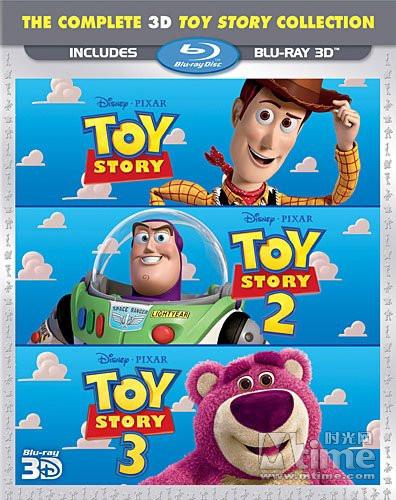 《玩具总动员》三部曲3D蓝光套装封套