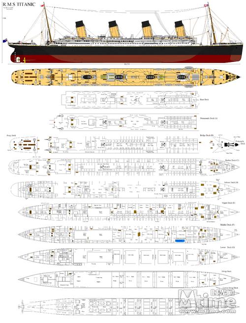 网友还原的泰坦尼克号设计图