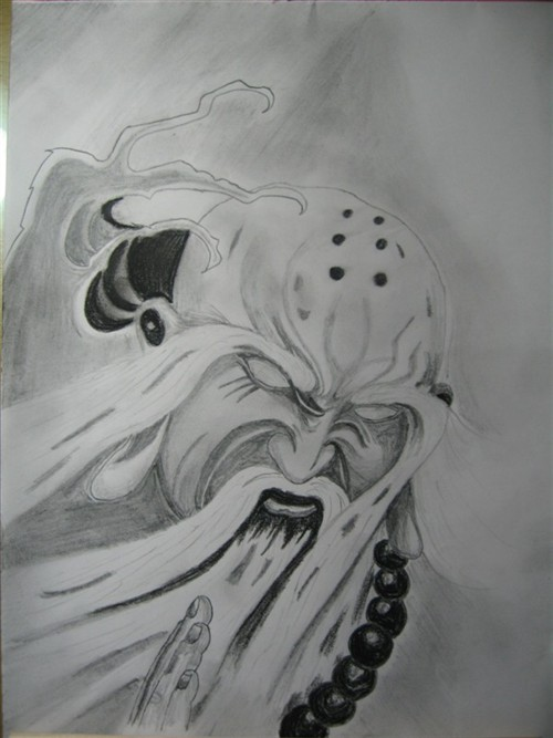 几幅自己画的纹身手稿【不断更新】                      象神(2010.图片