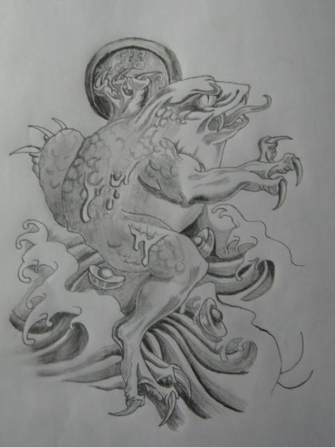 几幅自己画的纹身手稿【不断更新】