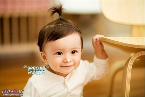 爆可爱韩国童星mason