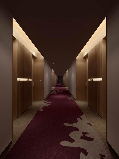 咕咕钟酒店公共走廊设计表现图-国内首个主题酒店群全面落成