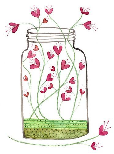 瓶子手绘简单又漂亮
