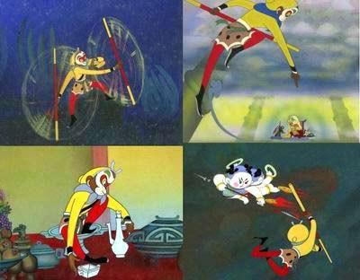 动画片,   在《西游记》的动画改编中,《大闹天宫》孙悟空的配