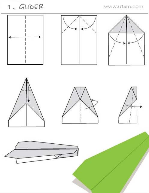 现在就给大家发12种纸飞机的折法
