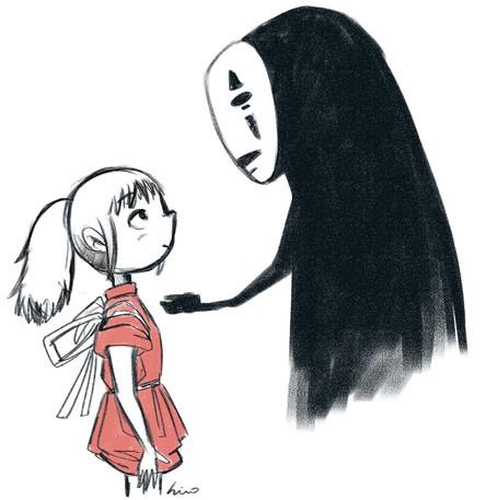 可爱的动漫绘画,你猜得是哪部片哪个人物吗?哈哈