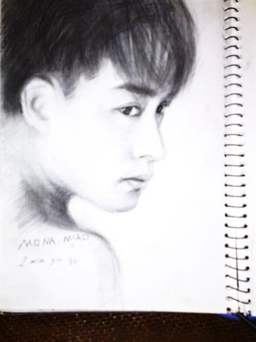 哥哥——张国荣>>——手绘画.