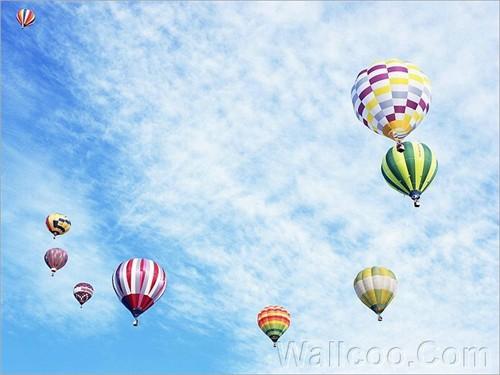 爱的感觉~~~小女生的热气球图片