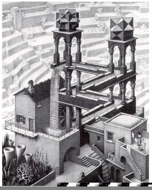 设计素描空间楼梯