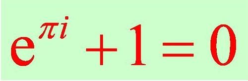最后,介绍一个公式:; 欧拉恒等式   搜搜百科; 这个恒等式也叫做欧拉