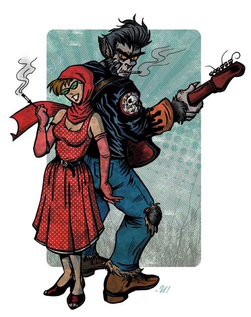 小红帽和大灰狼的故事
