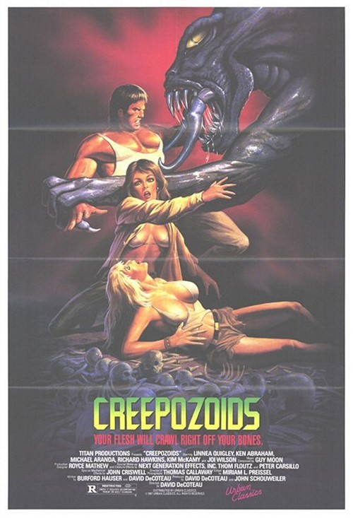 早期恐怖电影手绘海报展