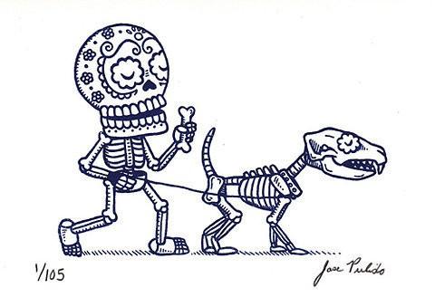 可爱的骨头 (⊙_⊙) 骷髅插画
