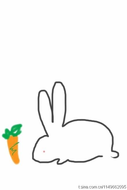 快来一笔画出一只小兔子!一招鲜!