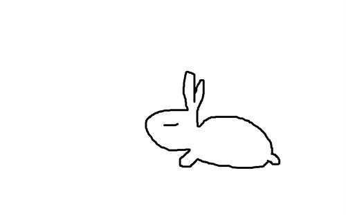 超人兔简笔画