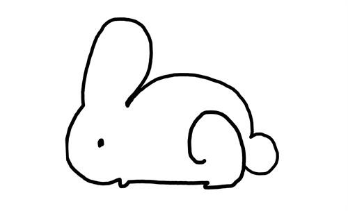 快来一笔画出一只小兔子 一招鲜