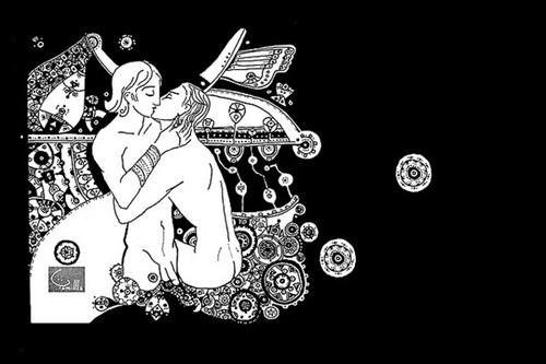 《波斯少年》插画:亚历山大与赫菲斯提昂