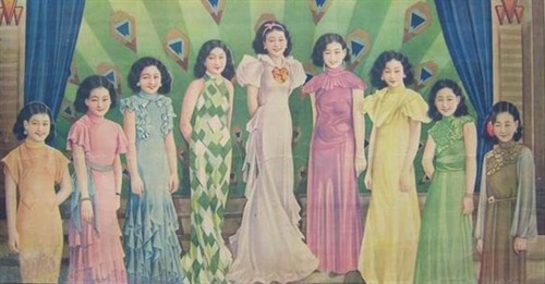 手画的民国时期美女 『初体验』club招待所