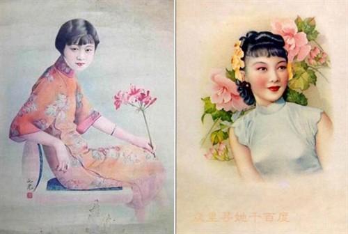 手画的民国时期美女