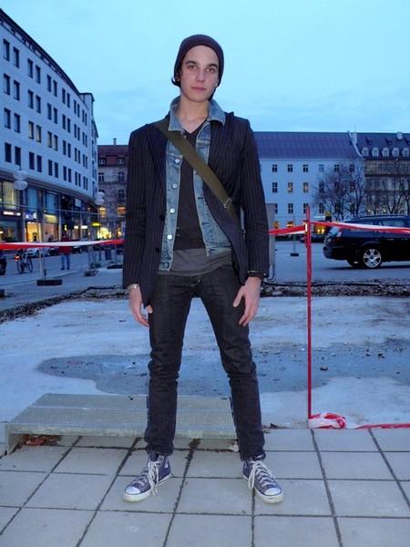 匡威高帮街拍-男生应该这样穿图片
