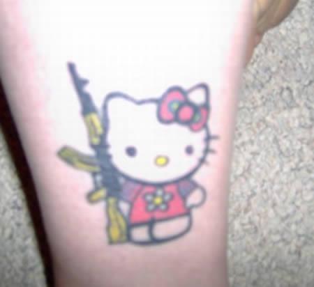 小熊纹身图案可爱简单