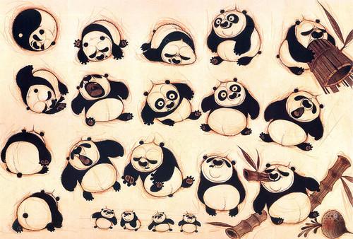 (幕后真相)《功夫熊猫》第二集设计手稿