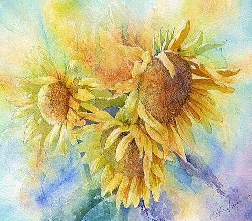 格调 福井良佑的水彩世界:漂亮的色彩 平静的画面    一张好的风景画