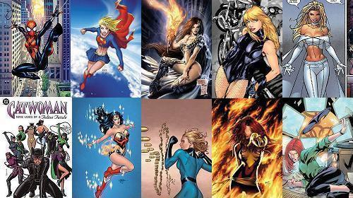 美国超级英雄漫画中的女性角色