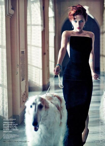 Scarlett Johansson for Vanity Fair December 2011 by Mario ...