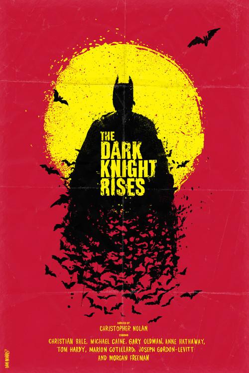 诺兰《蝙蝠侠前传》三部曲海报欣赏之黑暗骑