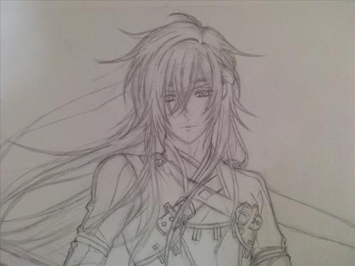 铅笔手绘动漫头发