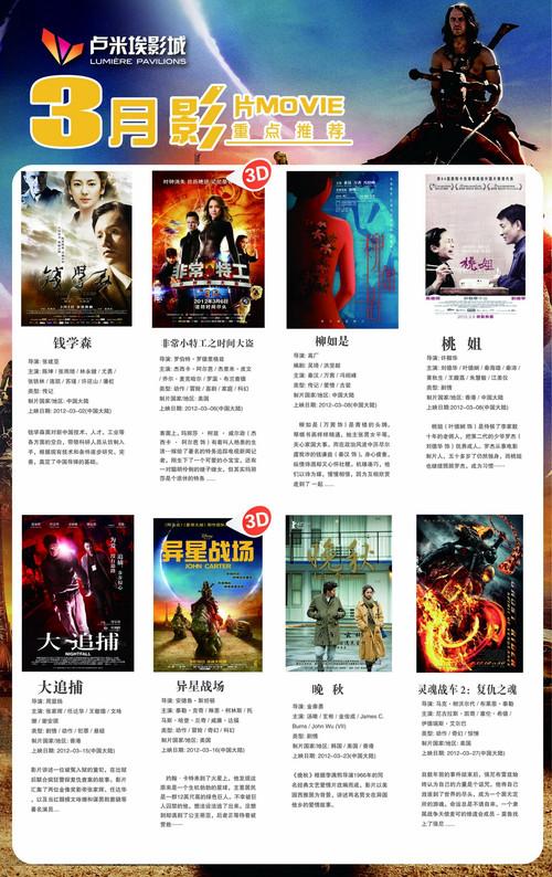 3月电影上映表