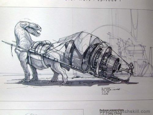 《星战前传》部分手绘原画