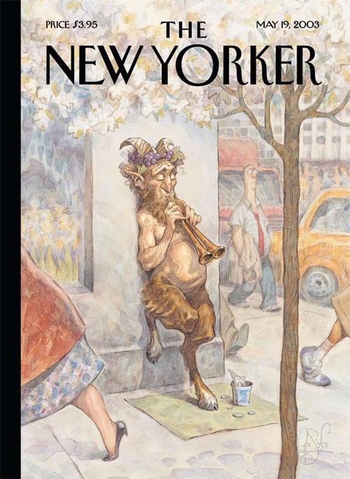 另外,他还是纽约客杂志的封面设计师.