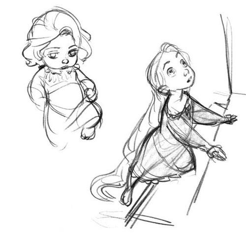 迪士尼《长发公主》rapunzel角色设计;; [转载]《长发公主》场景设定