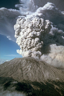 圣海伦火山爆发!