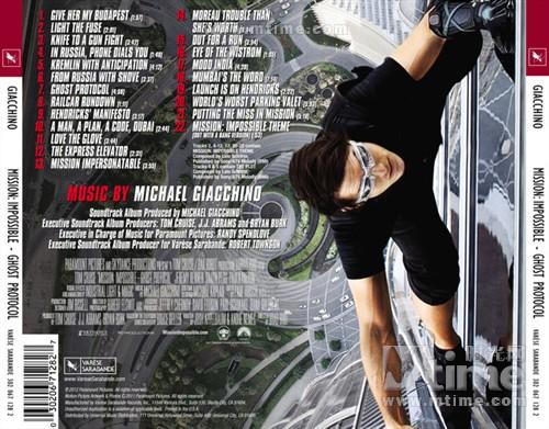 碟中谍4Mission: impossible - ghost protocol(2011)原声碟封套 #01b