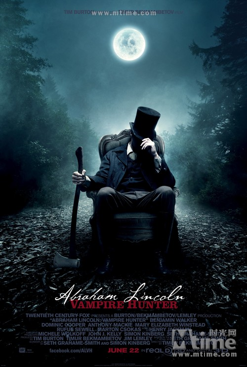 吸血鬼猎人林肯Abraham lincoln: vampire hunter(2012)海报 #01