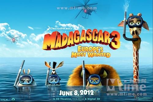 马达加斯加3Madagascar 3: Europe's Most Wanted(2012)预告海报 #05