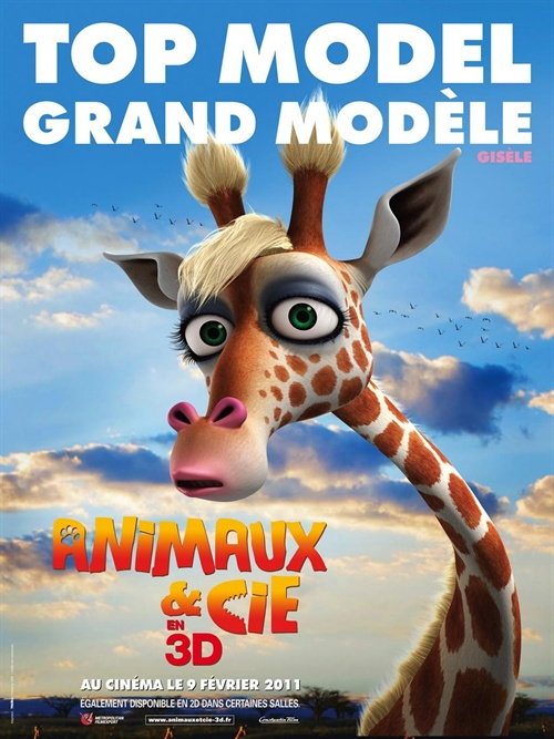 动物总动员3d 角色海报(法国)