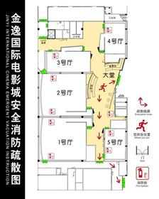 安全消防疏散图